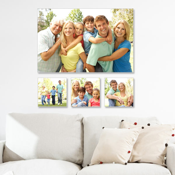Add a custom touch to any wall in your home with our custom photo canvas wall art arrangement.
