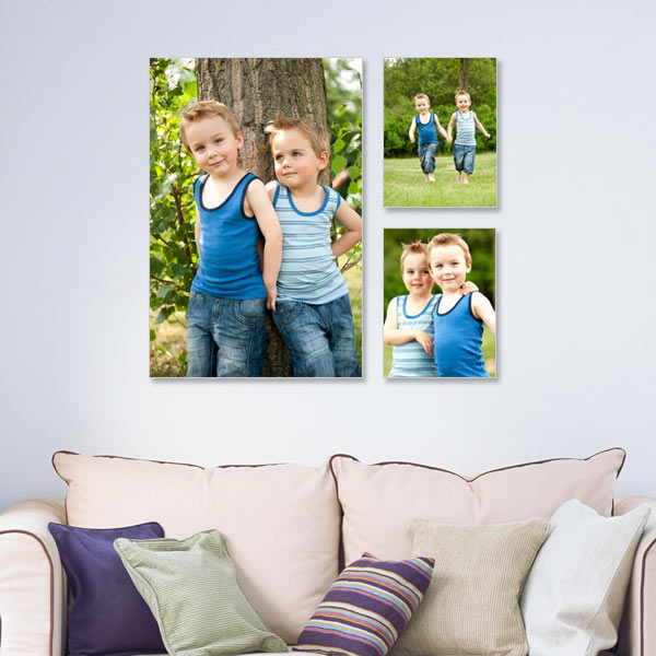 Create a gallery of memories on any wall with our Limelight canvas arrangement.