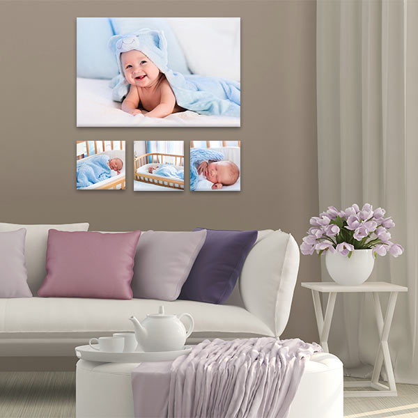 Our Family Collection canvas cluster will add a unique, personalized twist to your decor.