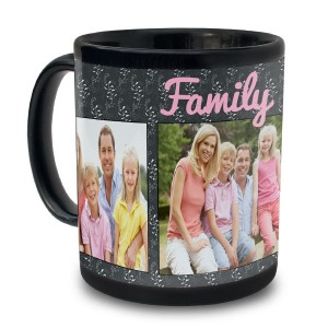 Add a unique twist to your morning routine with our custom 11oz black photo mug.
