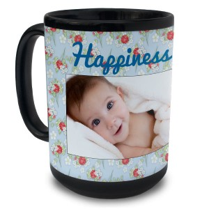 Create your own photo collage and personalize your own black ceramic mug for your morning coffee or tea.