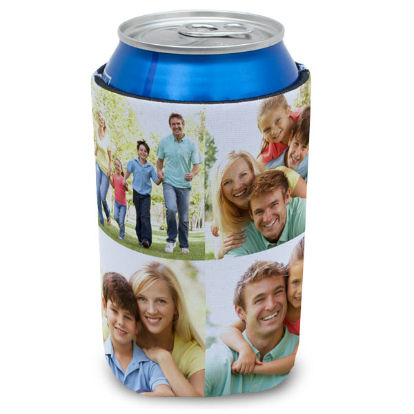 Embellish your own soda can sleeve or coozie in style using your favorite photos.
