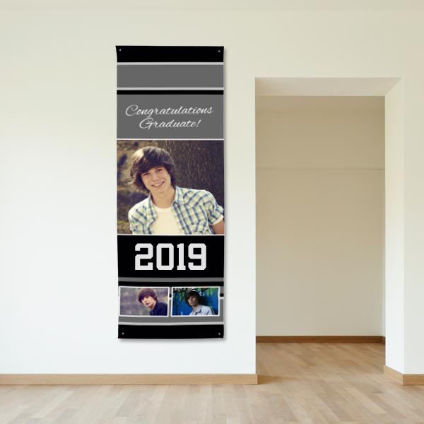Create the perfect graduation banner for your senior this year using their best senior photos!
