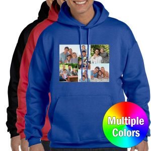 Select a favorite photo and print it on a full color hoodie for the perfect outfit accessory.