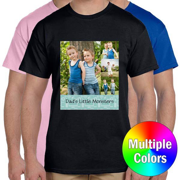 Custom Photo T-shirts available in many different colors
