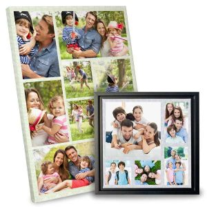 Design your own collage and have it custom printed on high quality canvas.