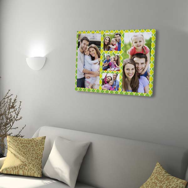 Collage canvas prints arrive ready to display in your home