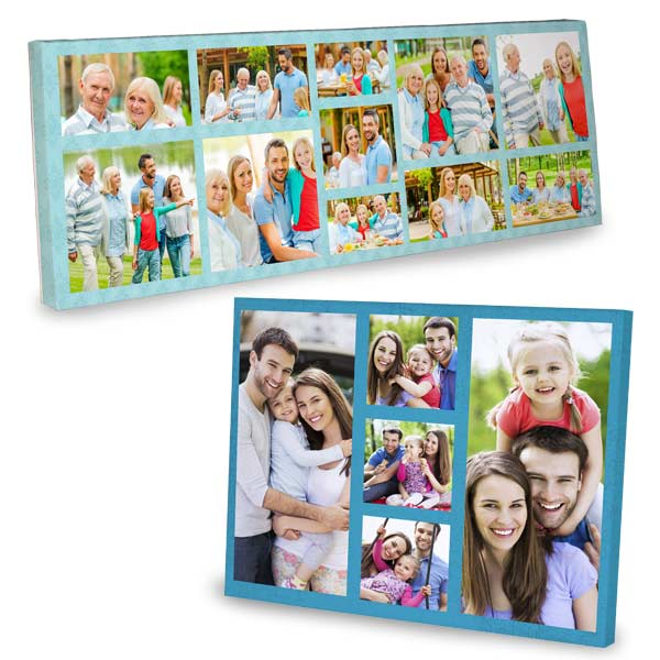 beautiful photo collage canvas available in many sizes and styles