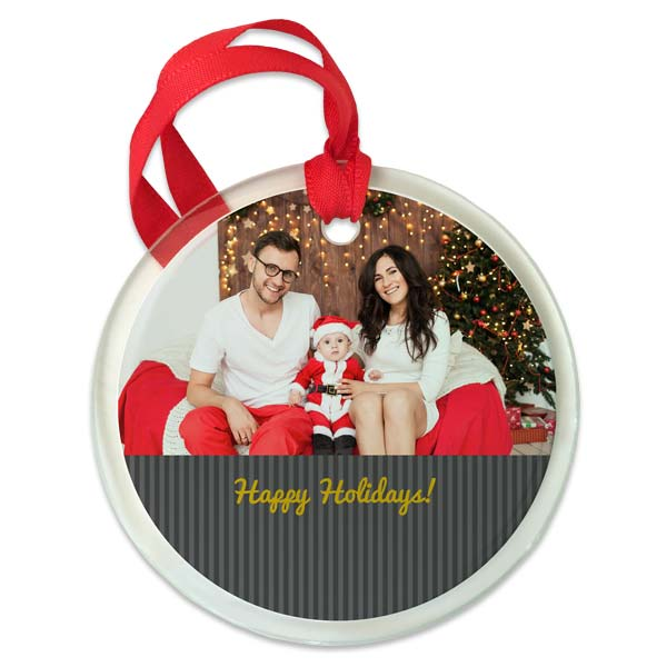 Customize your ornament with colors, backgrounds and custom text
