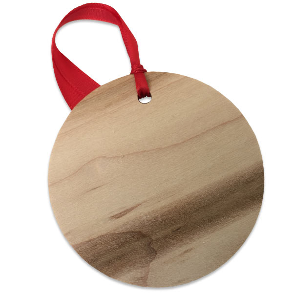Natural wood round back with wood grain