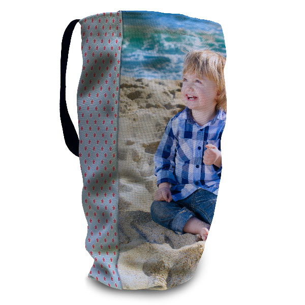 Full bleed printing and t-bottom so tote bag can stand