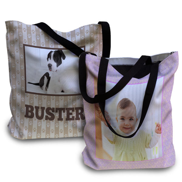 Customized photo tote for any occasion or any purpose