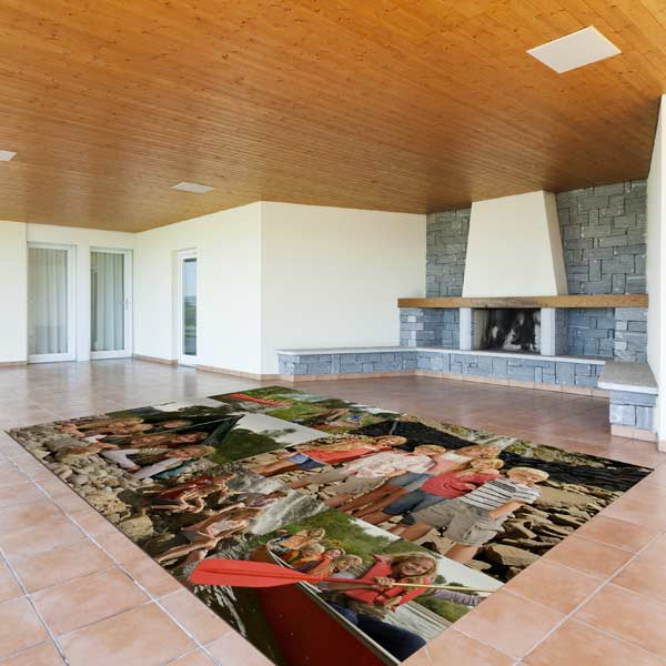 Warm a cold floor with a non-slip large area floor mat, perfect for tile and a basement