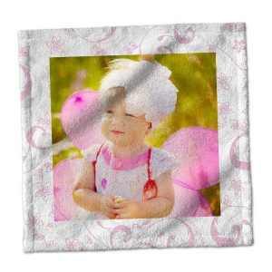 Add a little character and color to your bath decor with our customized photo washcloths.