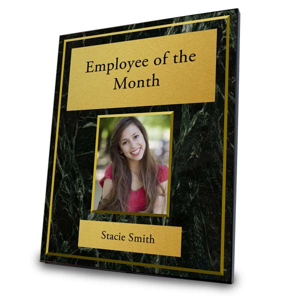 Employee of the month, custom award trophy plaque
