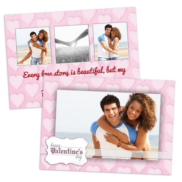5x7 double side cards with postcard paper for your romance love romantic Valentine photos