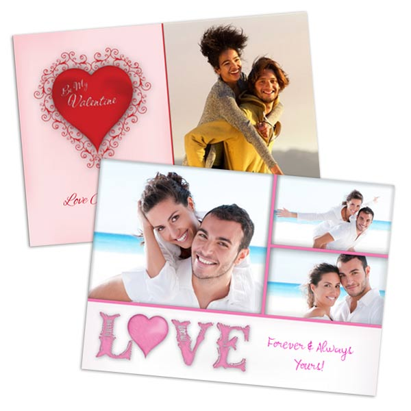 5x7 photo glossy picture cards for Valentines romantic photos