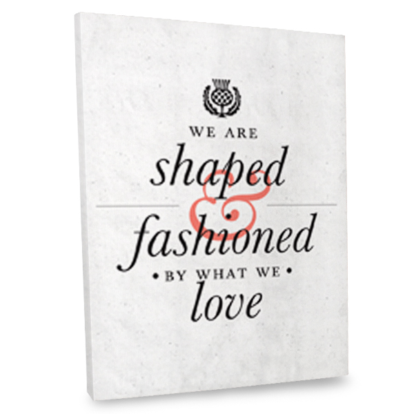 Add a touch of love to your home's interior with our inspiration quote canvas wall art.