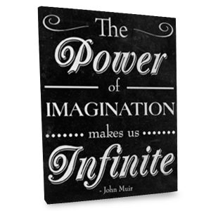 Our Power Of Imagination canvas is sure to inspire whimsy while adding elegance to your decor.