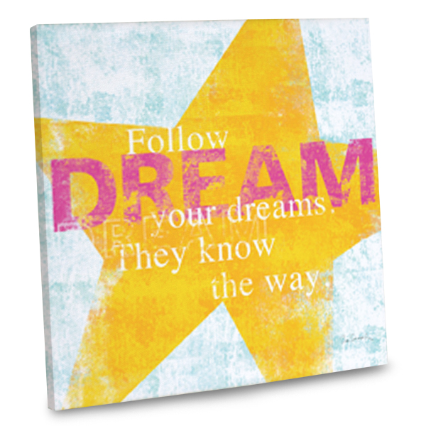 Add a dreamy flair to your home's interior with our dream quote canvas wall art.