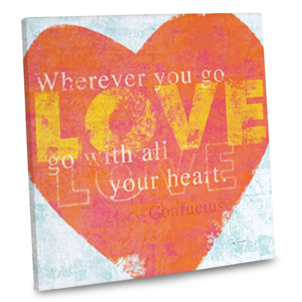 Keep love close even in your interior decor with our stylish canvas quote themed wall art.