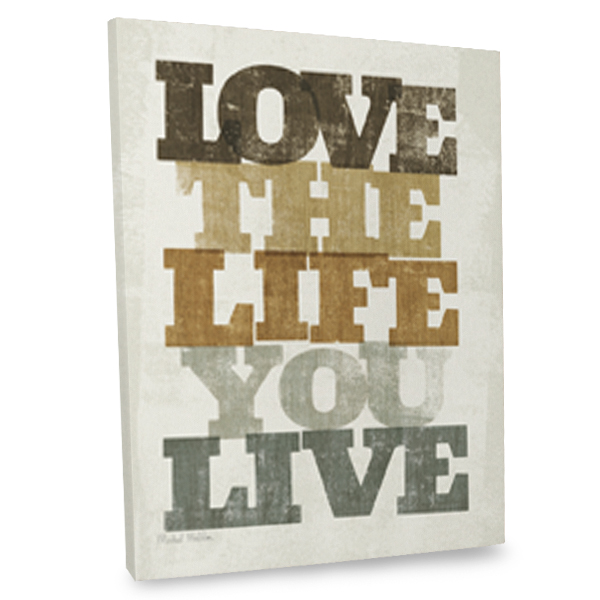 Liven up your decor with our canvas quote printed in the highest quality.