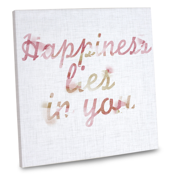 Add happy thoughts to your decor with our stylish quote canvas wall art.