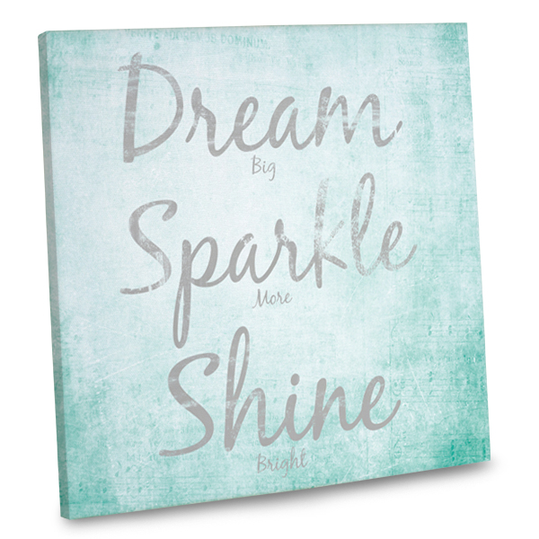 Make your interior inspirational with our bright, colorful canvas quotes.