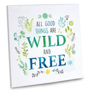 Our elegant quote canvas is sure to liven up your decor and inspire the joy of freedom.