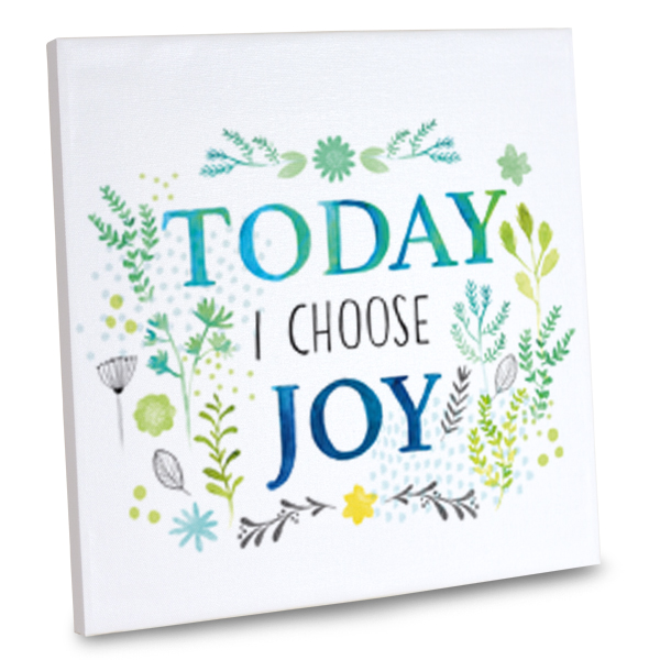 Include joy in your daily routine with our joy quote canvas.