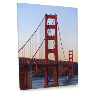 Add the iconic elegance of the Golden Gate Bridge with our stunning art canvas print.