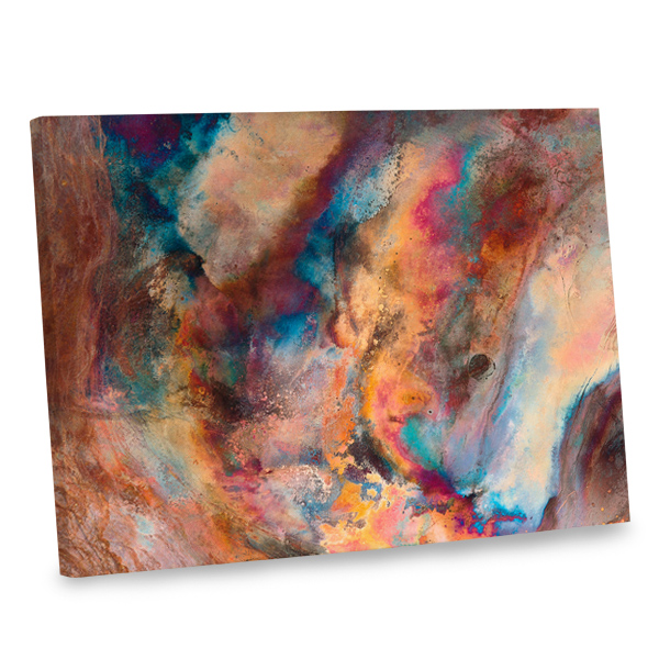 Make a statement with our abstract canvas photo print with wrapped edges.