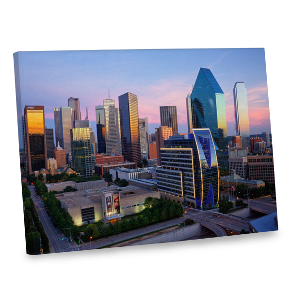 Jazz up any room in style with our city skyline canvas print.