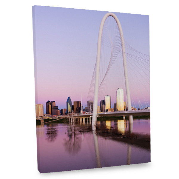 Our Dallas bridge canvas print will certainly add a unique flair to your room's decor.