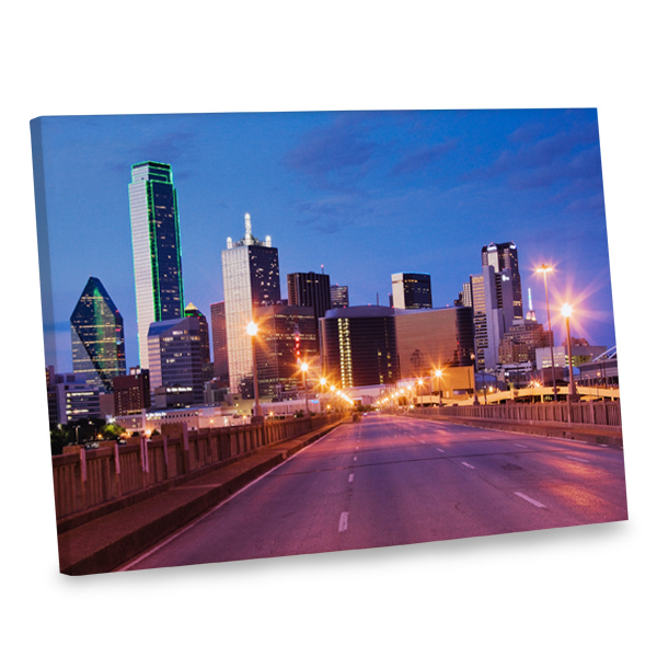 Give your decor a boost of urban style with our Dallas city scene canvas.