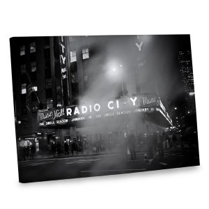 Give your interior decor a boost with our canvas photo print of Radio City Music Hall.