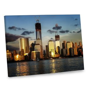 Featuring a stunning photo of the new World Trade Center, our canvas print is sure to draw looks.