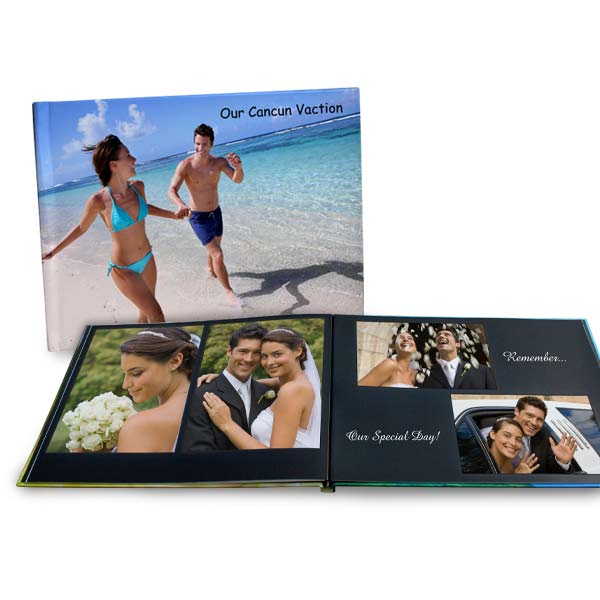 Create a photo book with pages that lay flat, 8.5x11 layflat photo books make a a great gift