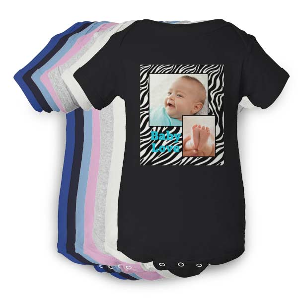 Multiple options to choose from when you create your personalized baby clothing with Winkflash