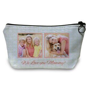 Add photos and text to your own Accessory pouch with Winkflash Personalized Pouches