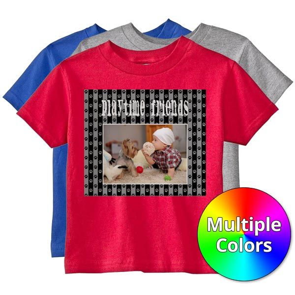 Create personalized t-shirts for your toddlers and young children with Winkflash