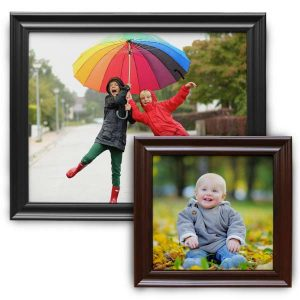 Traditional wood framed canvas prints offer you a beautiful elegant look for your precious photos.