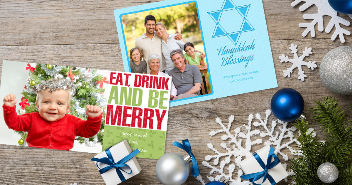 Cheap Holiday Photo Greeting Cards | Winkflash