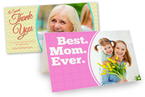 Photo Personalized Greeting cards availabe in various sizes and styles