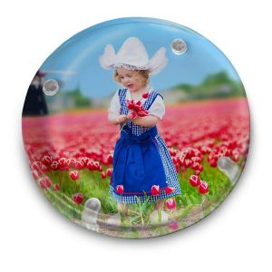 Add a spot of color to your desk in your home or in the office with a personalized photo paperweight