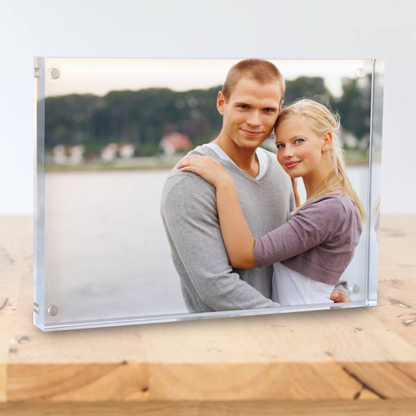 Order a unique photo display with Winkflash Acrylic block photo prints