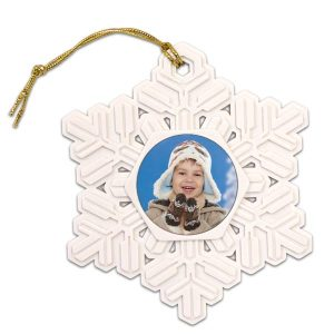 Create your own snowflake photo ornament with a photo