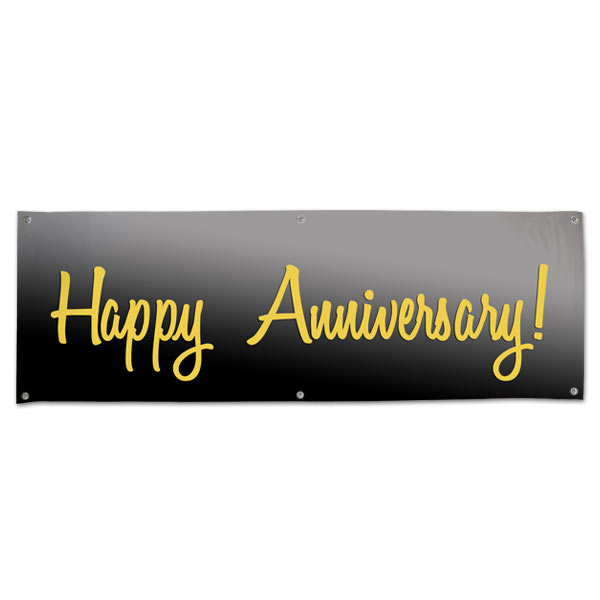 Perfect for your party or event, wish your parents a Happy Anniversary with a 6x2 Banner