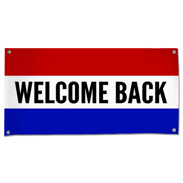 Welcome a friend or relative home in style with our durable outdoor welcome back banner.
