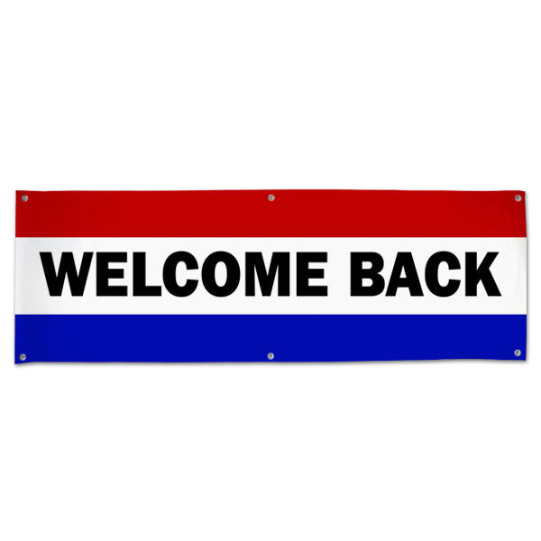 Welcome some one back with a classic style patriotic banner, perfect for welcoming home troops size 6x2